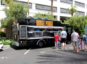 Standing in line at the Hodge Podge Food Truck