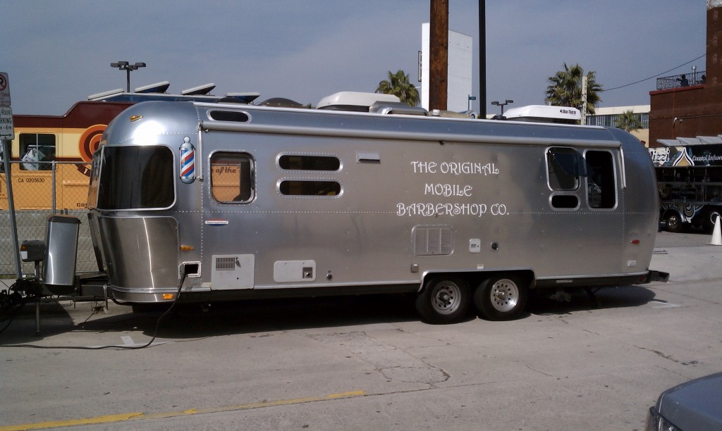 The original mobile barbershop co was on hand to provide those in