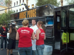 Chris Hodgson of Hodge Podge Truck with Devilicous Food Truck Team.